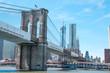 Brooklyn bridge from a ferry