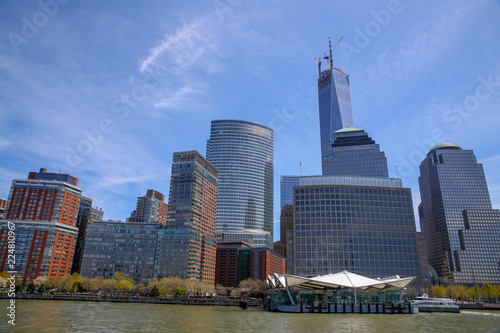 Fototapety, obrazy: View of Manhattan from Ferry