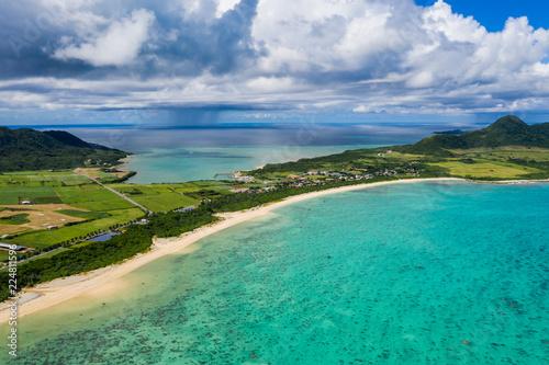 Top view of Ishigaki Island of Okinawa