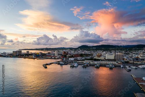 Ishigaki island under sunset