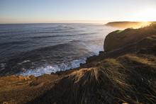 Sunset On The Coastal Cliffs