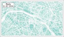 Paris France City Map In Retro...