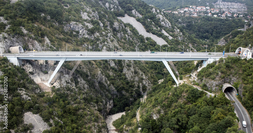 Foto op Aluminium Oude gebouw modern bridge in Croatia.moderne Brücke in Kroatien