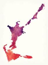 Sandys Parish Watercolor Map O...