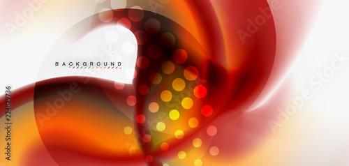 Fototapeta  Mixing liquid color flow abstract background