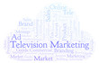 Word cloud with text Television Marketing.