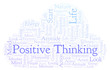 Positive Thinking word cloud, made with text only.