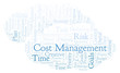 Cost Management word cloud, made with text only.