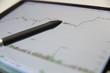 Stock market on tablet