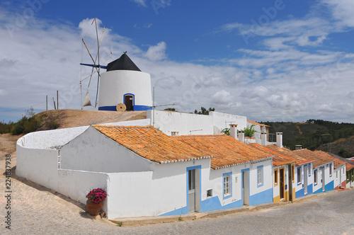 Fotografía  Restored traditional windmill Odeceixe Algarve Portugal.