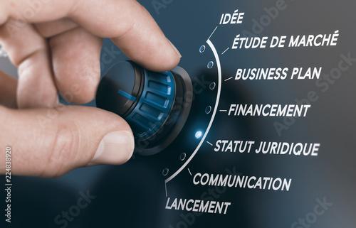 Photographie Etapes de création et lancement d'une entreprise.