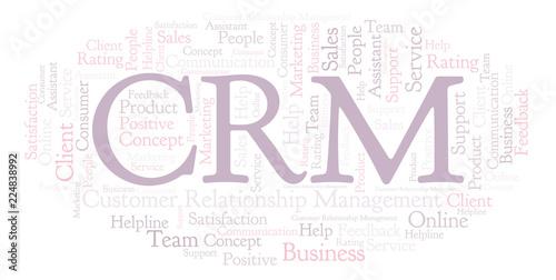 фотография  CRM - Customer Relationship Management word cloud.
