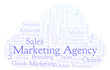Word cloud with text Marketing Agency.