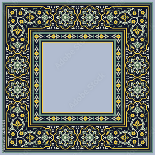 Fényképezés  Vector Oriental ornament, pattern for decoration of various designs