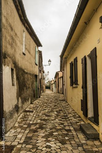 Santarcangelo Romagna street Italy