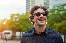 Happy Man Wearing Sunglasses