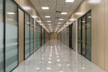 Large Empty Office Corridor