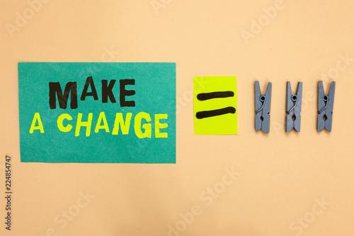 Fotografie, Obraz  Handwriting text Make A Change