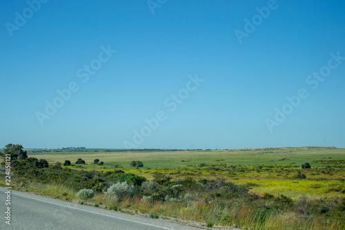In de dag Blauwe jeans Road landscape Lancelin