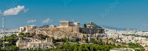 In de dag Athene The Parthenon, Acropolis and modern Athens