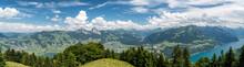Panoramic View On Swiss Alps