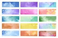 Colorful Painted Watercolor Ba...