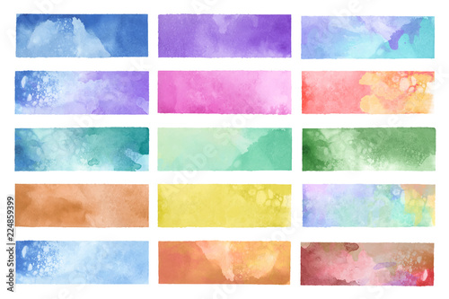 Colorful painted watercolor backgrounds vector Wallpaper Mural