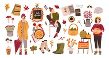 Autumn Set - People Holding Ga...
