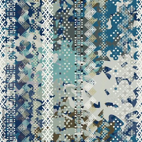 Aluminium Prints Boho Style Abstract art grunge seamless pattern