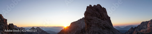 Idyllic sunrise in Adamello Brenta National Park, South Tyrol / Italy Fotobehang