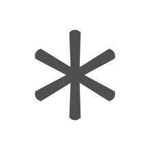 Asterisk Footnote Icon Sign