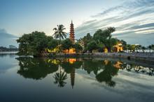 Tran Quoc Pagoda During Sunset...