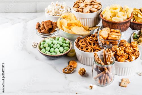 Fotografía Variation unhealthy snacks