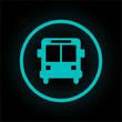 Neon Button rund - Bus