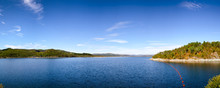Lake Mosvatn Regulating Reservoir Panorama UNESCO Heritage Site  Telemark Norway