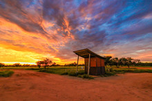 Dramatic Sunrise Over Outback ...