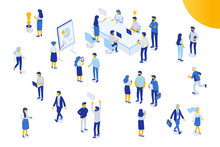Isomeric Office People Vector ...