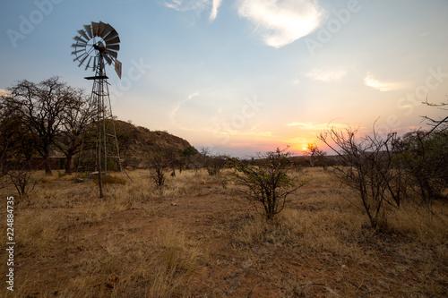 Staande foto Bleke violet landscape of africa in the sunset