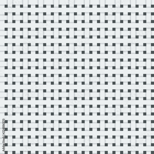 Fotografiet  Realistic Woven fiber seamless pattern with shadows