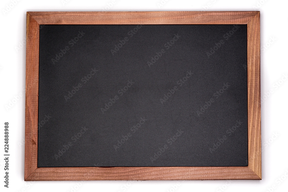Fototapety, obrazy: Empty chalk board background. Blank blackboard with wooden frame.