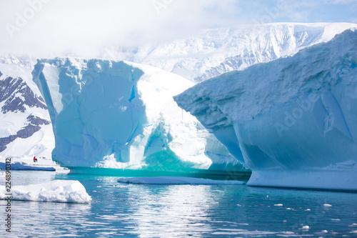 Deurstickers Antarctica ice in the Antarctica with iceberg in the ocean