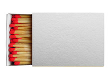 Matchbox With Red Matches Isolated