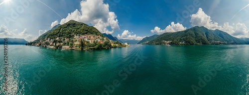 Photographie Italy Como Lake drone Air 360 vr virtual reality drone panorama