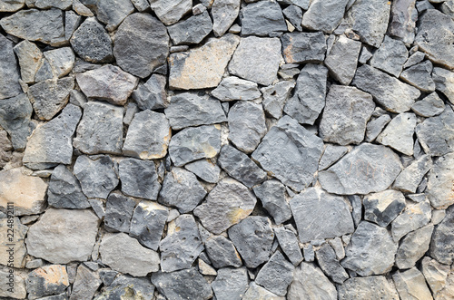 Poster Stenen stone wall texture build from stone plates