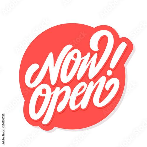 Obraz Now open sign. - fototapety do salonu