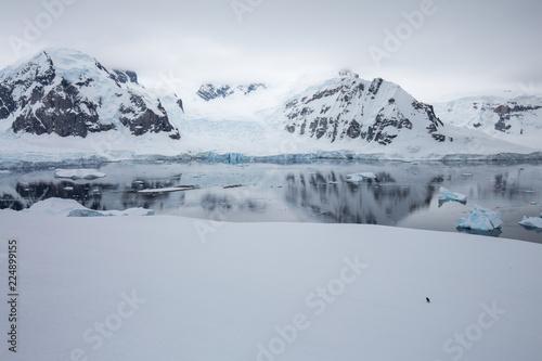 Spoed Foto op Canvas Antarctica ice in the Antarctica with iceberg in the ocean