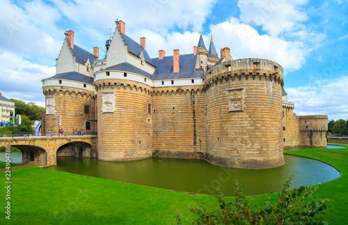 Photo sur Aluminium Con. ancienne Château des Ducs de Bretagne, Nantes, Bretagne, France