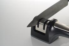 Kitchen Knife Sharpener On White