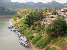 Riverboats On The Nam Ou River, Nong Khiaw, Laos