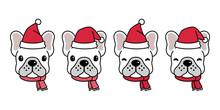 Dog Vector French Bulldog Chri...